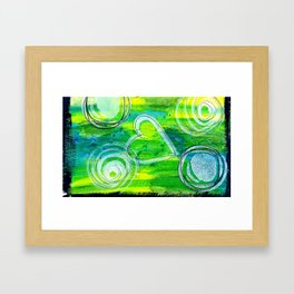 Bright Green Framed Art Print