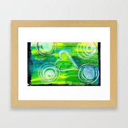 Bright Green Framed Art Print