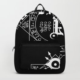 Invisible Sun Symbol on Black Backpack