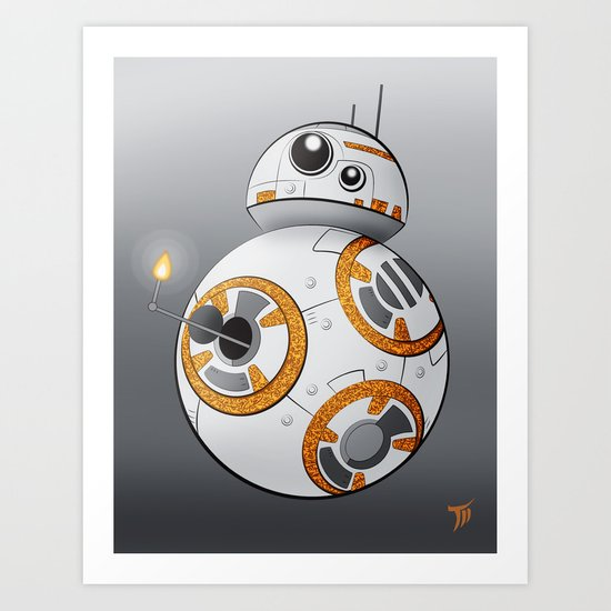 War in the Stars -- BB-8 Art Print