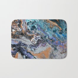 Molten Time (flow art on canvas) Bath Mat