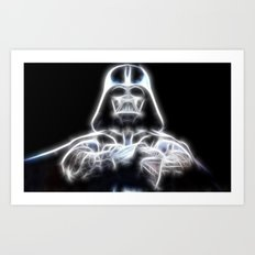 Darth Vader Electric Ghost Art Print