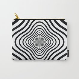 op art - black and white twisty tunnel Carry-All Pouch