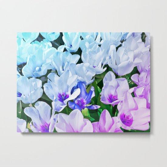 Blue Indigo Tulips Metal Print