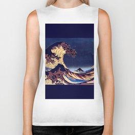 The Great Wave Off Kanagawa Inverted Katsushika Hokusai Biker Tank