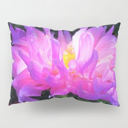 Stunning Pink and Purple Cactus Dahlia Pillow Sham