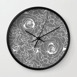 Grey Bouquet Wall Clock
