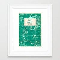 the hobbit Framed Art Prints featuring The Hobbit by Buzz Studios