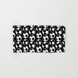 Art Soccer black Hand & Bath Towel