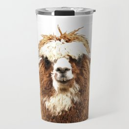 Alpaca Portrait Travel Mug