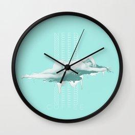 Just. Need. Coffee. Wall Clock
