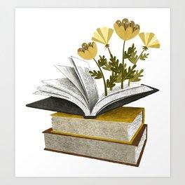 floral reading iv Art Print