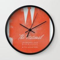 the national Wall Clocks featuring The National  by Silent K Design