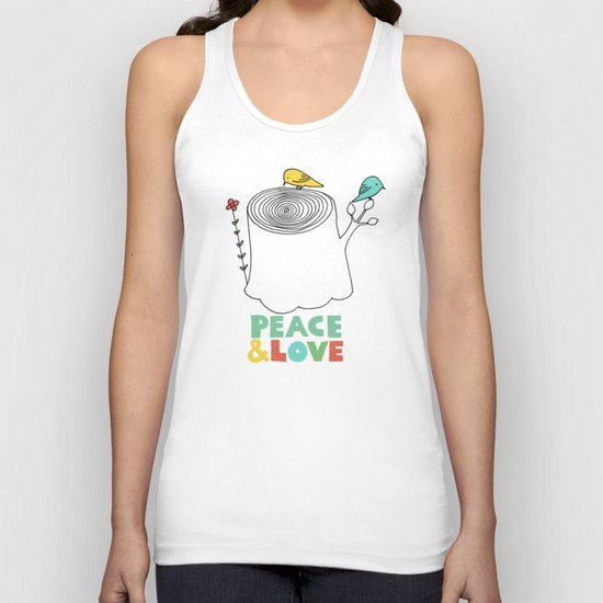 Peace & Love Unisex Tank Top