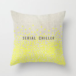 Serial Chiller on Confetti Throw Pillow