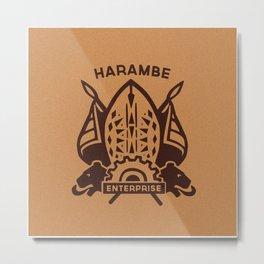 Harambe Crest Metal Print