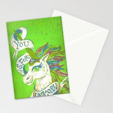 You is for Unicorn Stationery Cards