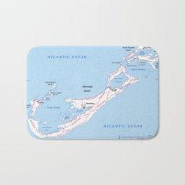 Vintage Map of Bermuda (1976) Bath Mat