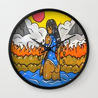 korra Wall Clocks featuring Korra by TheArtGoon