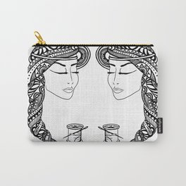 Reep What You Sew | Black and White Illustration Carry-All Pouch