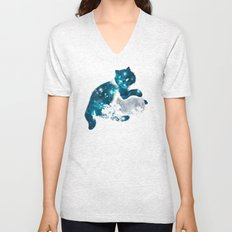I can haz the moon Unisex V-Neck