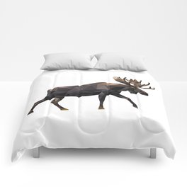 Polygon geometric Moose Comforters
