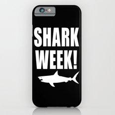 Shark week (on black) Slim Case iPhone 6s