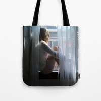 lost in translation Tote Bags featuring Lost In Translation by Slava Bowman