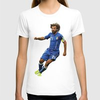 pirlo T-shirts featuring World Cup - Italy - Andrea Pirlo by HonickDesign