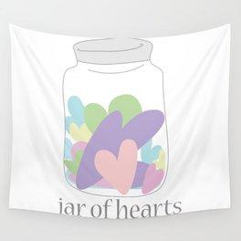 Jar of Hearts Wall Tapestry