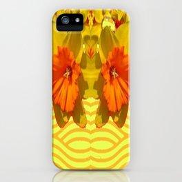 Golden Orange Trumpet Daffodils Pattern iPhone Case