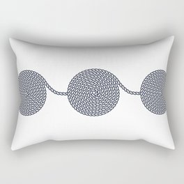 Yacht style. Rope spirals. Blue & white. Rectangular Pillow