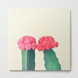 Plaid Cacti Metal Print