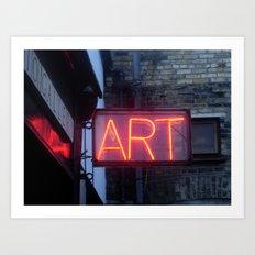 Neon Art Art Print