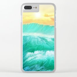 Light in a storm Clear iPhone Case
