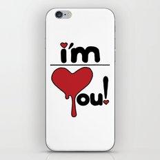 i'm over you! iPhone & iPod Skin