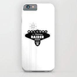LAS VEGAS RAIDERS SIGN WHITE STAND iPhone Case
