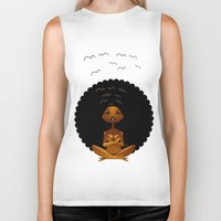 spiritual Biker Tanks featuring Spiritual AfroGirl by Pweety Sexxay