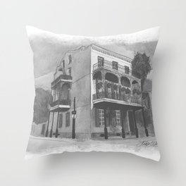 Lafitte Guest House Throw Pillow