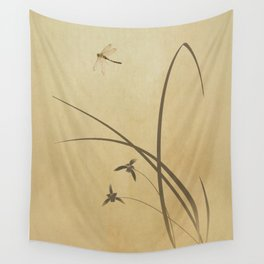 Orchid and Dragonfly Wall Tapestry