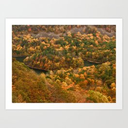 The view On Top of Castle Craig.... photography Art Print