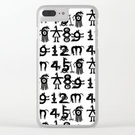Counting Unicorns Clear iPhone Case