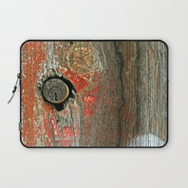 Weathered Wood Texture with Keyhole Laptop Sleeve