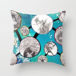 Mythical Molecules Throw Pillow