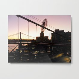 Sunrise at Brooklyn Bridge Metal Print