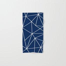 Geometric, Navy Blue, Abstract Pattern Hand & Bath Towel