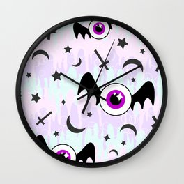Pastel Melt Winged Eyes Wall Clock