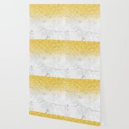 Gold Glitter and Grey Marble texture Wallpaper