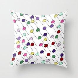 Lollies - white Throw Pillow