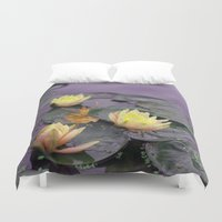 tinker bell Duvet Covers featuring tinker bell & tiger lilies by EnglishRose23
